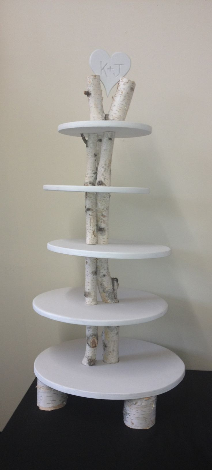 Birch Tree Wedding Tier for cupcakes... i know you said sinful bliss has a stand but this is awesome!!! I know you guys like trees right?