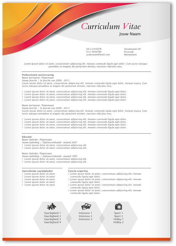 CV design 325. Gebruik dit CV ontwerp om je eigen CV te laten pimpen.