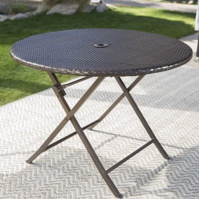 Coral Coast Berea Outdoor Wicker Folding Cafe Table ...
