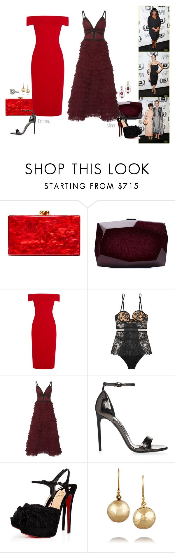 """2014 New York Film Critics Circle Awards Ceremony."" by foreverforbiddenromancefashion ❤ liked on Polyvore featuring Edie Parker, Monique Lhuillier, Cushnie Et Ochs, La Perla, LALO, Christian Louboutin, Chanel and Ippolita"
