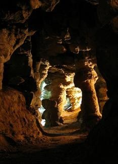 Jaskinia Malinowska – the Malinowska Cave, the most popular cave in the Silesian Beskids  in Poland