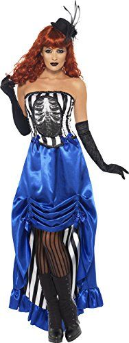 Smiffy's Women's Grotesque Burlesque Pin Up Costume, Corset and Skirt, Halloween, Size 10-12, 38867 #Burlesque Halloween Costumes