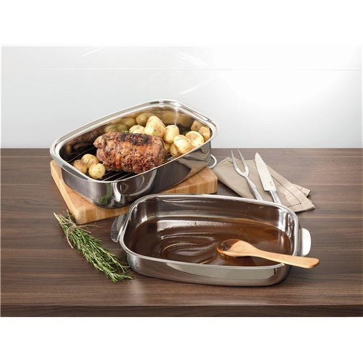 Baccarat Entree Roaster 36cm with Lid & Rack | Roasting Pans & Roasting Racks