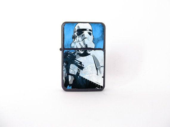 Epic  stormtrooper darthvader starwars blue icsbook lighter popart ic