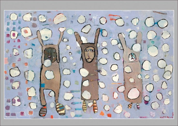 Kathy DeZarn Beynette: Snowshoe Hares Christmas Cards