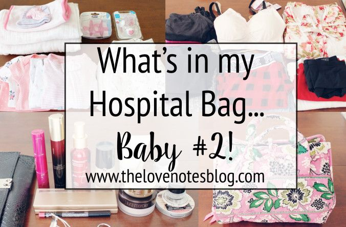 What to Put in A Hospital Bag | Hospital Bag Checklist | The Love Notes Blog