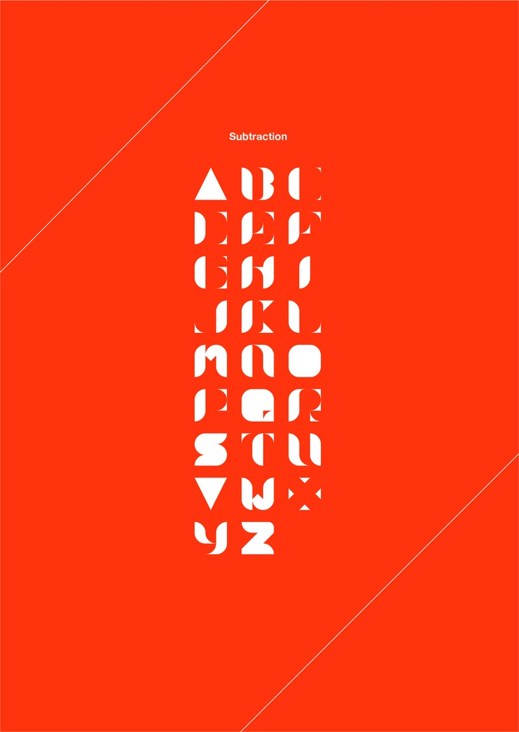 New typeface / Subtraction
