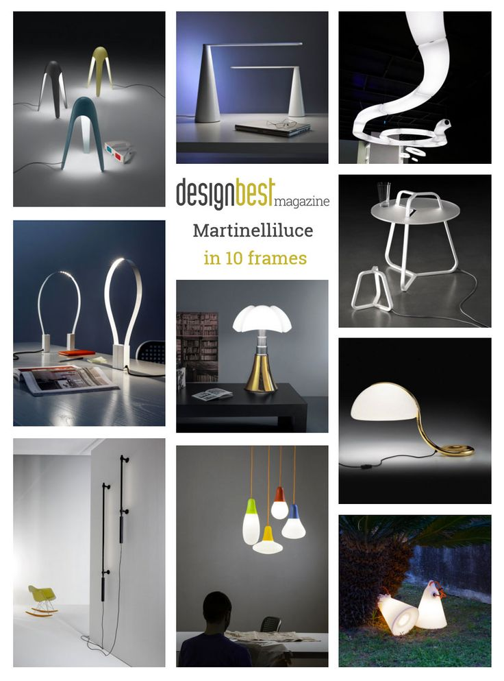 Check out the 10 pieces by @martinelliluce  we have chosen for you! #best #brands #lighting #furniture #design |