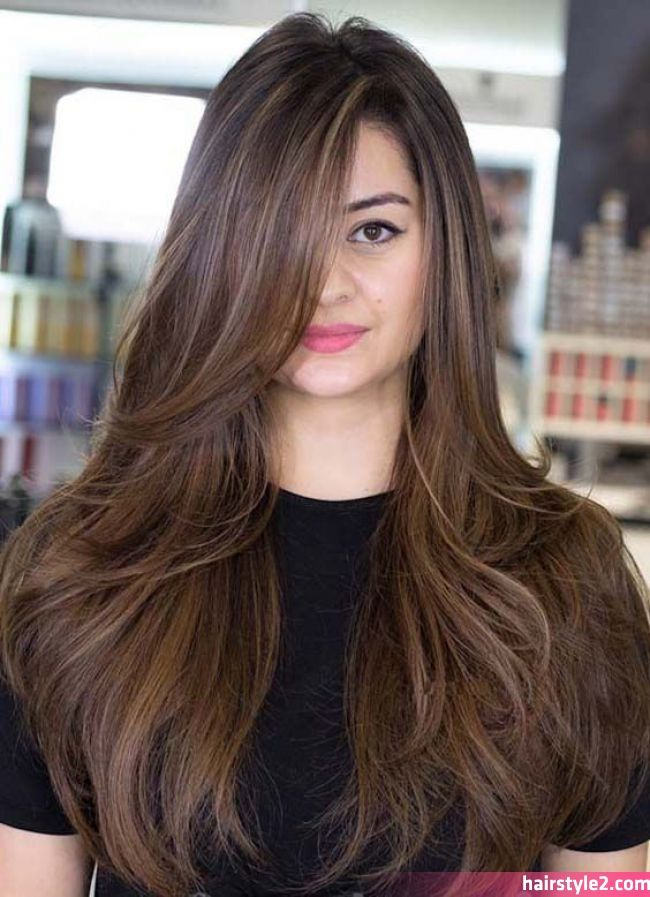 Latest Hairstyle Trends For Long Hair Lilostyle Long Hairstyles Are Always Trendy For Women With Long Straight Layered Hair Long Hair Styles Long Thick Hair