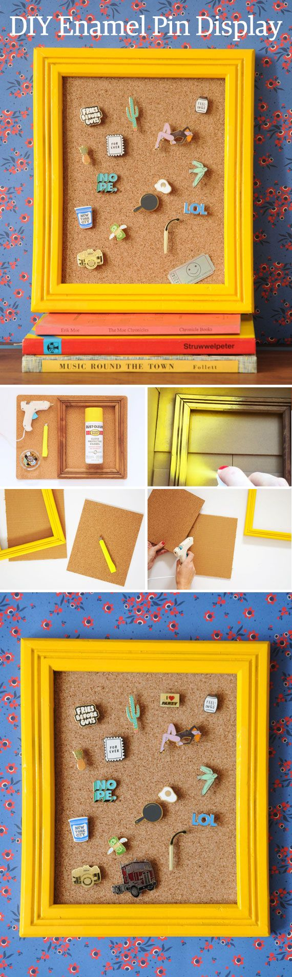 Why stash away a well-curated enamel pin collection in a jewelry box when you can put it on display? We'll show you how, with this #DIY project by @amandakingloff – now on the #Etsy Blog.