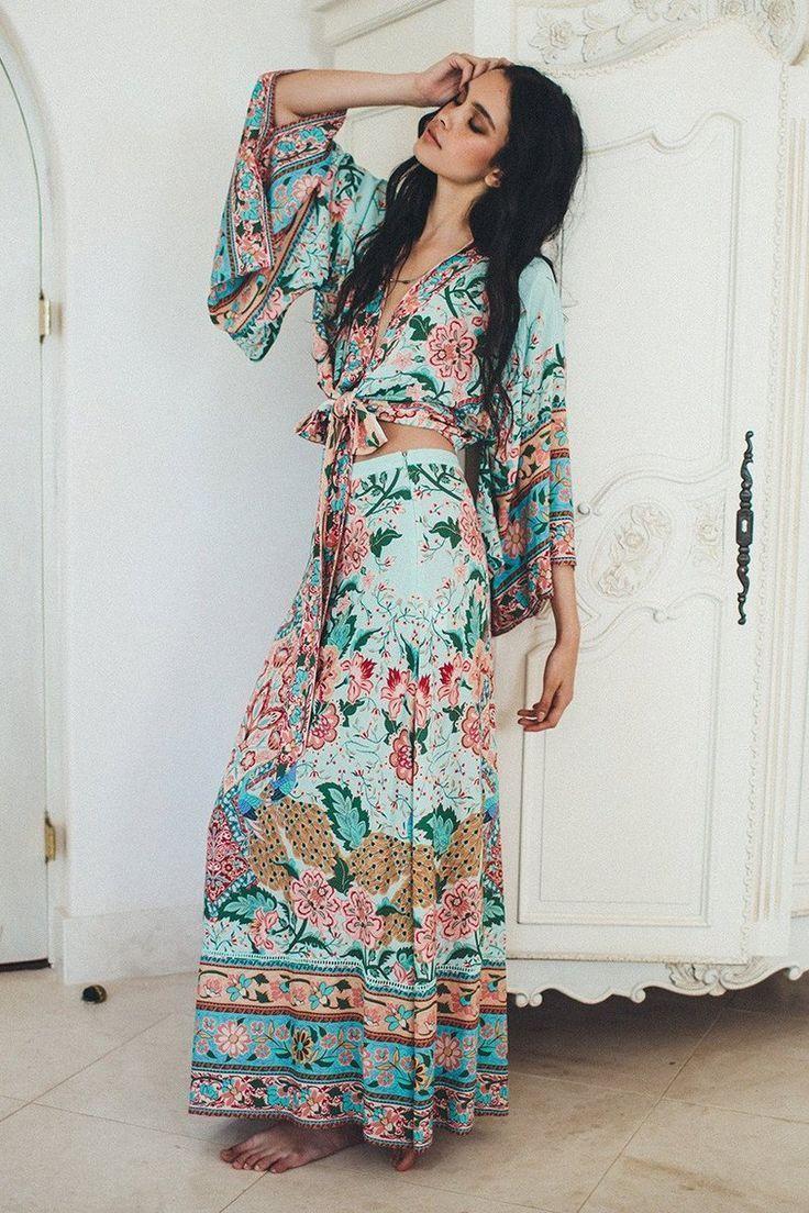 Material Cottonsleeve Length Three Quarterstyle 2 Piecedecoration Sashes Floral Pattern Zipcollar Beautiful Boho Dresses Trendy Dresses Summer Maxi Dress [ 1104 x 736 Pixel ]