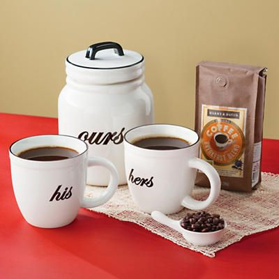 His and Hers Coffee Gift Basket from Harry & Davids.  The perfect start to a fabulous day!
