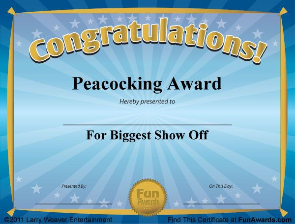 Funny Award Certificates - 101 Funny Certificates to Give ...
