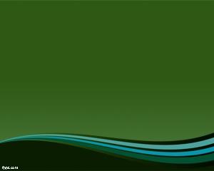 Efecto Curva Plantilla PowerPoint con fondo verde y curvas