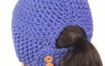Learn To Loom Knit A Ponytail Hat