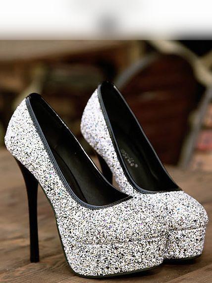 Elegant Round Toe Black High Heels Fashion Shoes