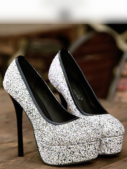 Elegant Round Toe Black High Heels Fashion Shoes