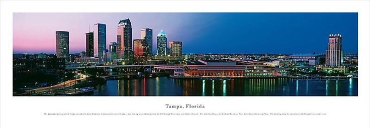 Tampa, Florida Skyline Picture - Panoramic Picture $29.95