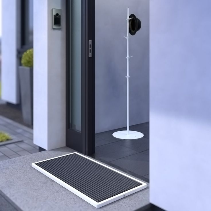 Are you ready for #spring? Urban #doormat and Pine #coatrack in #white. #Design #TeunFleskens for RiZZ