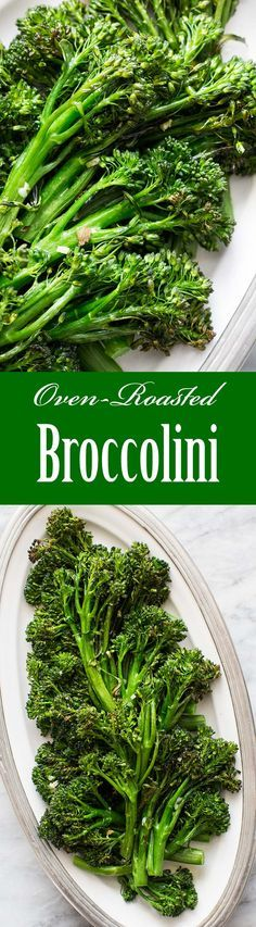 Easy-to-make roasted broccolini! Healthy, paleo, and gluten-free. On http://SimplyRecipes.com