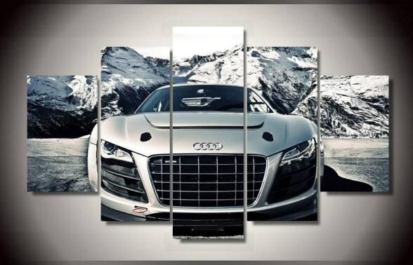Printed Audi Car 5 piece picture painting wall art children's room decor poster canvas Free shipping //Price: $49.40 & FREE Shipping //     #hashtag4