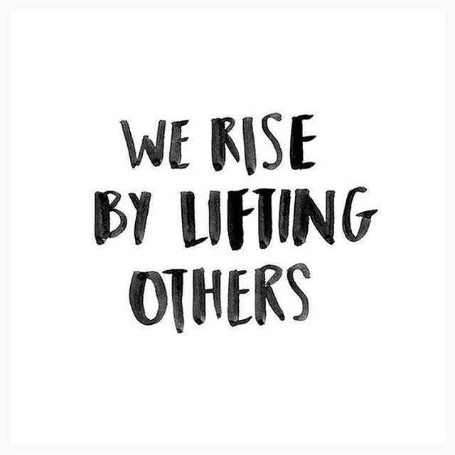 We rise by lifting others ❤️ @marooshk