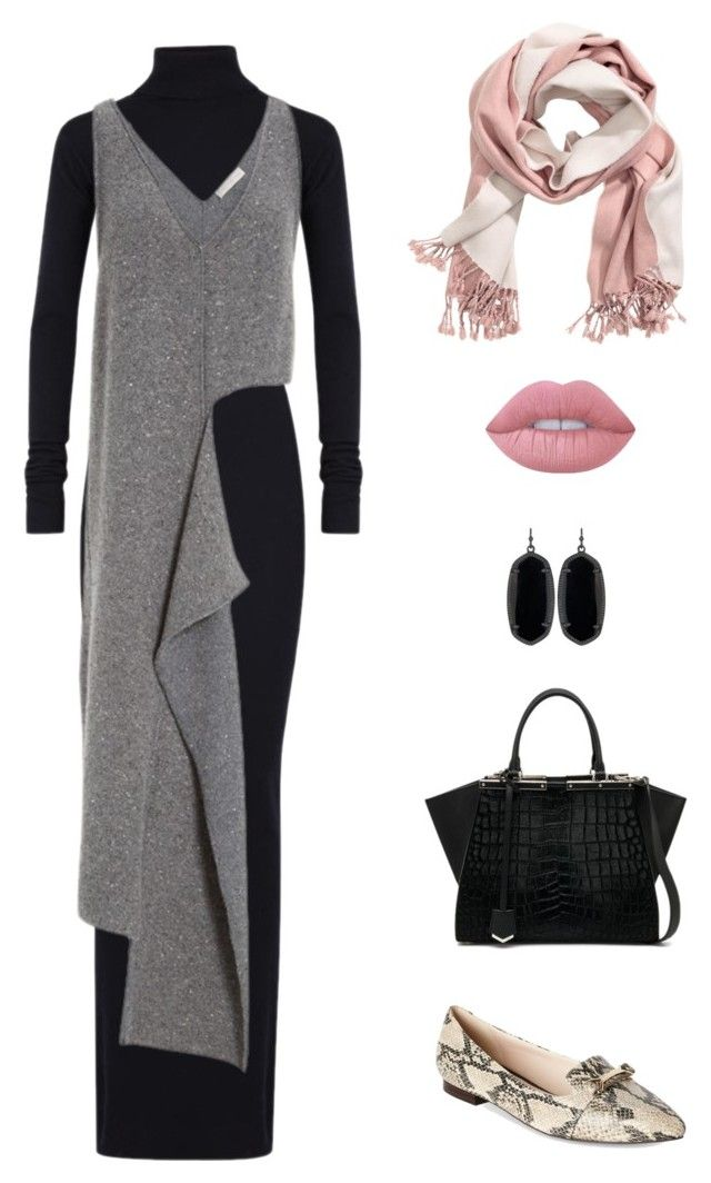 """""""Untitled #89"""" by priliscaa on Polyvore featuring STELLA McCARTNEY, Kendra Scott, H&M, Cole Haan, Fendi and Lime Crime"""