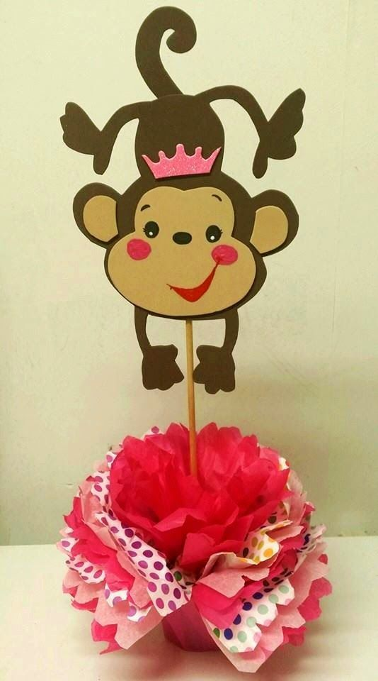 monkey baby girl shower baby shower centerpieces monkey decorations