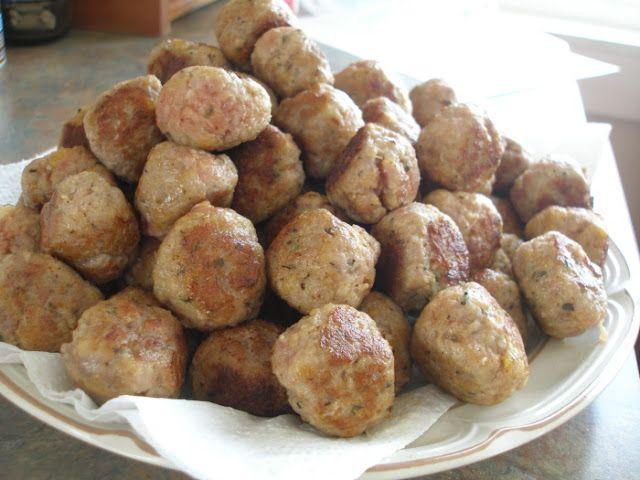 Hot Or Mild Italian Turkey Sausage Meatballs With Fennel-Mustard Sauce ...