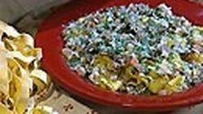 Pappardelle med skaldjur och gremolata | SVT recept