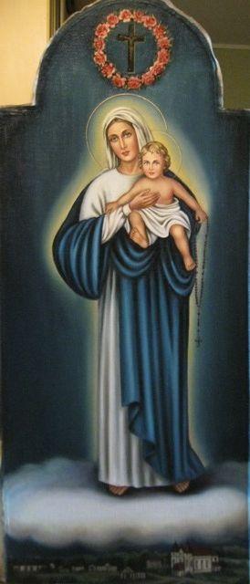 Дева Мария Святого Розария (холст,масло)-художник Ядвига Сенько