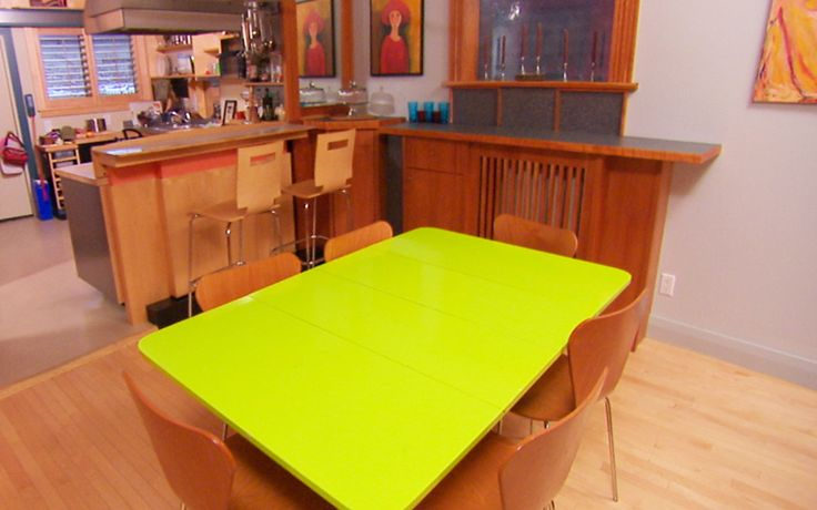 colourful kitchen table