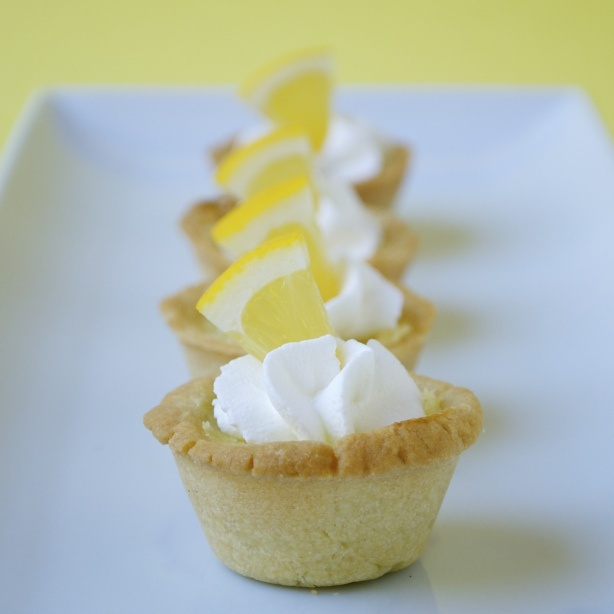 Mini Lemon Tarts - beware, this recipe makes a lot of tarts. Absolutely delicious. Great with afternoon tea.