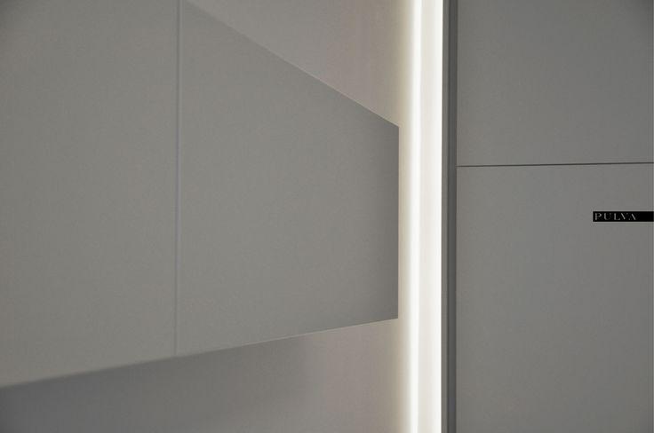 minimalistic interior design, light