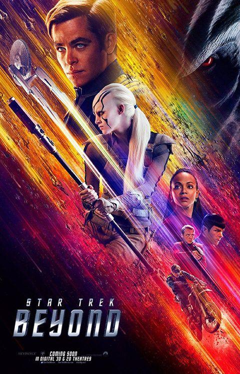 """STAR TREK BEYOND Un sovraffollamento di scene madre, sostenuto da un ritmo forsennato ed effetti speciali a profusione, senza il benché minimo approfondimento dei personaggi, né alcuna crescita degli stessi: praticamente una puntata della serie storica, dilatata fino a superare le due ore di durata complessiva. Per i fans potrà anche significare qualcosa, ma per tutti gli altri è soltanto uno svago. RSVP: """"Star Trek Into Darkness"""", """"Star Trek"""". Voto: 6+."""