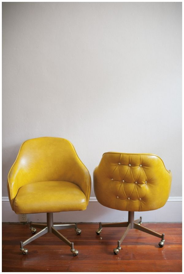 mustard office chairs