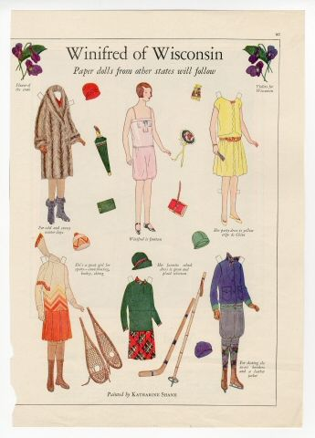 77.236: Winifed of Wisconsin | paper doll | Paper Dolls | Dolls | Online Collections | The Strong