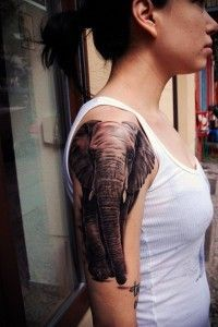 unique Tattoo Trends - Latest 55 Elephant Tattoo Designs for Girls: 2015