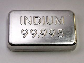 High purity Indium Metal Ingot - 100 grams  Size about 52x30x10mm - This is a true opportunity -  Indium is a very rare metal which is essential for production of semiconductors, flat screens, TV, Mobile phones and solar technology , however its price is quite low at the moment. You get ONE of such an ingot!