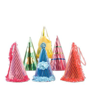 Take a look at this Metallic Circus Party Hat Six-Piece Set by Party Partners on #zulily today!