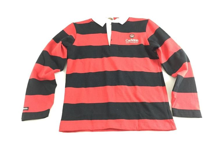 NWT Rugby Wear Barbarian Shirt Women's Black and Red Striped size M Pullover #RugbyWear #PoloShirt