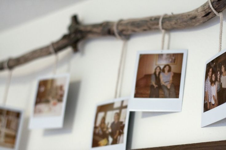 polaroid hanging picture hanging ideas pinterest