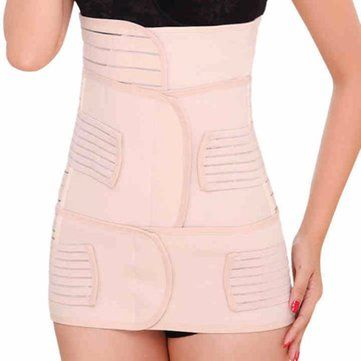3in1 Postpartum Women Recovery Breathable Belly Elastic Waist Pelvis Belt Shapewear Slimming Body Support Band