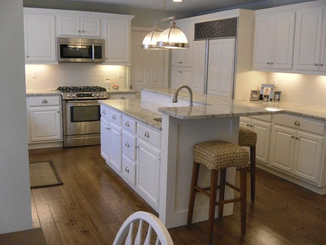 125 best kitchen images on pinterest for River white granite with white cabinets