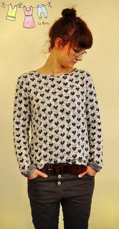 """Lounge-Sweater-Women"" Sweatshirt / Schnittmuster und Nähanleitung - Schnittmuster und Nähanleitungen bei Makerist"