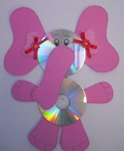 cd elephant craft with template (2)