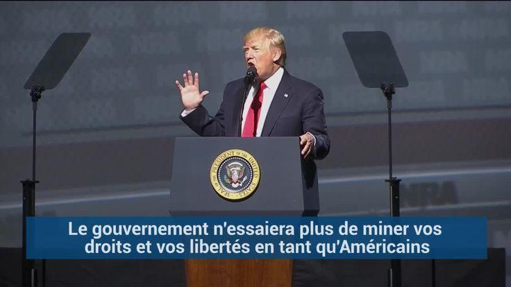 """""""Vous avez un ami à la Maison Blanche"""", lance Trump à la NRA, le lobby des armes"""