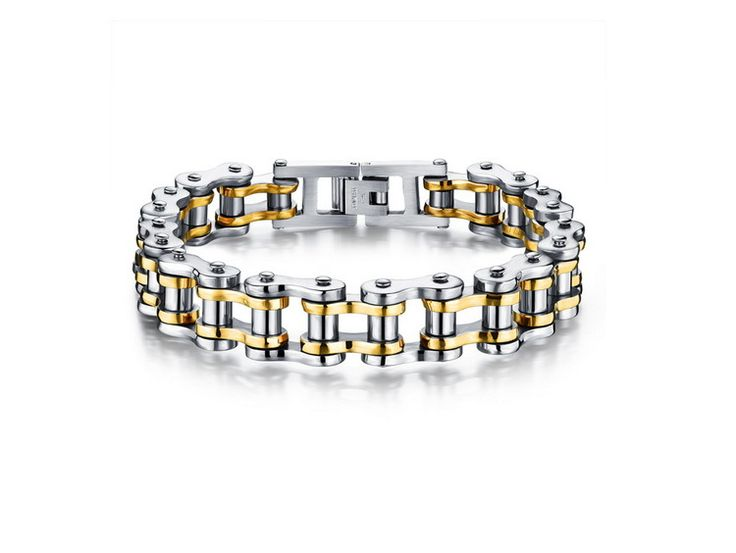 3PCS/lot Cool Men Biker Bicycle Motorcycle Chain Men's Bracelets & Bangles Fashion 4 Color 316L Stainless Steel Jewelry