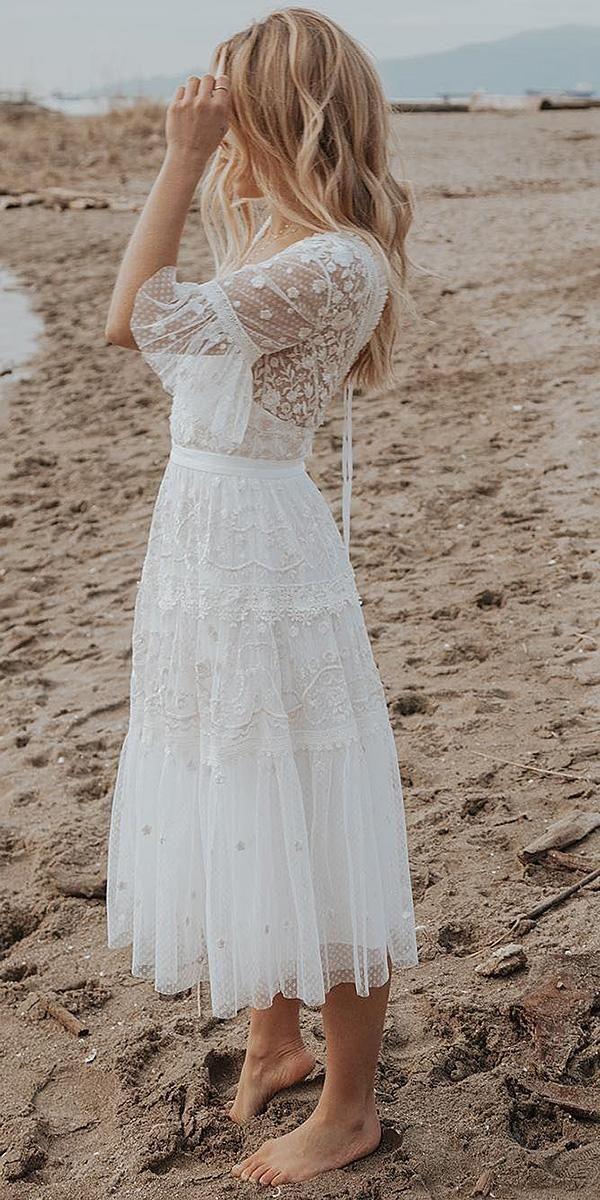 27 Chic Bridal Dresses Styles Silhouettes Wedding Forward Civil Wedding Dresses Short Lace Wedding Dress Midi Wedding Dress