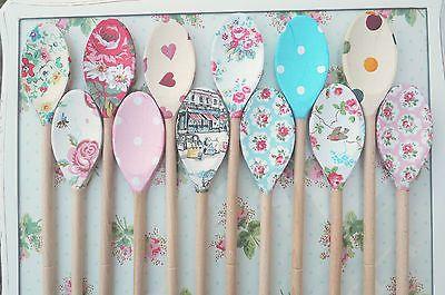 Vintage Shabby Chic Decorated Wooden Spoon Cath Kidston Emma Bridgewater Kitchen